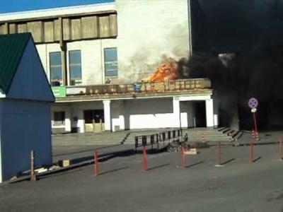 Embedded thumbnail for Пожар на железнодорожном вокзале города Лиски